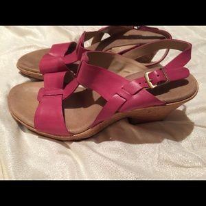 Clark's sandals Cork Heel Size- 9M